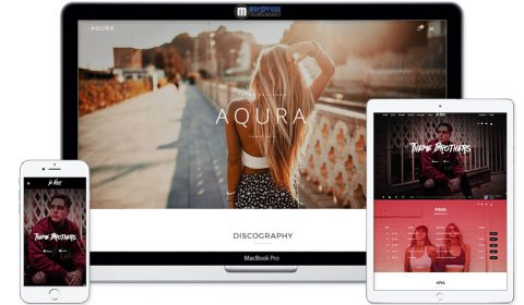 AQURA - Music Bands Musicians & DJ's WordPress Theme
