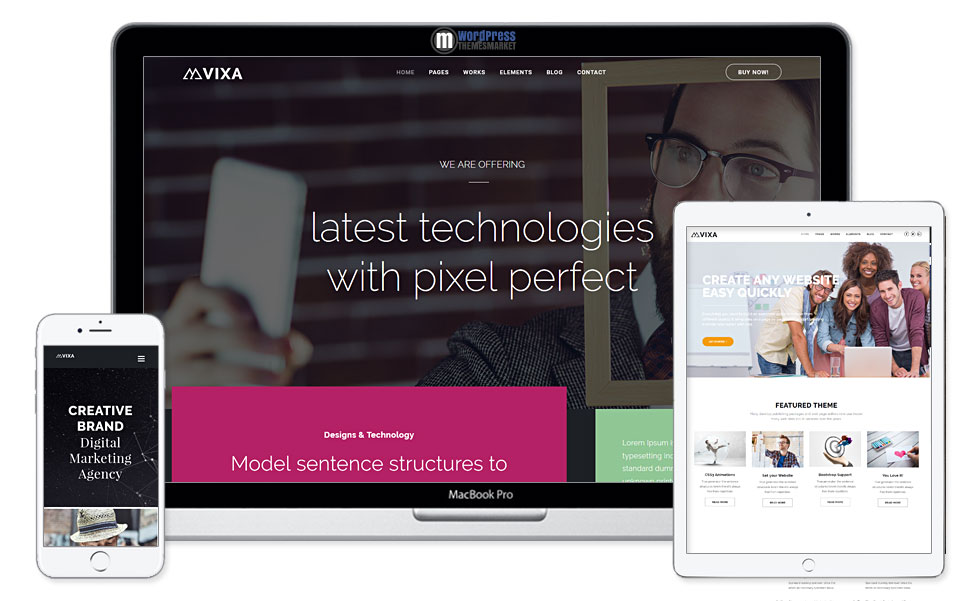 Vixa - Creative Multi-Purpose WordPress Theme