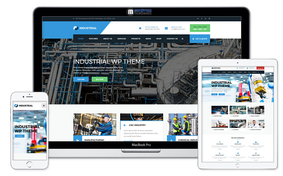 Industrial - Industry and Engineering WordPress Theme