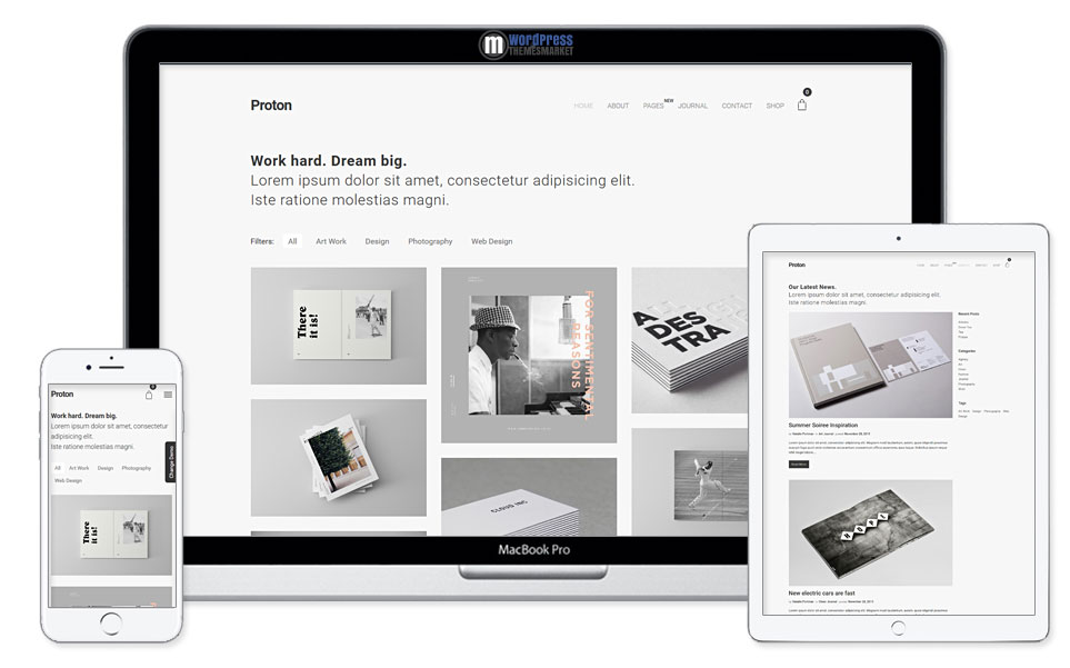 proton-minimal-portfolio-wordpress-theme
