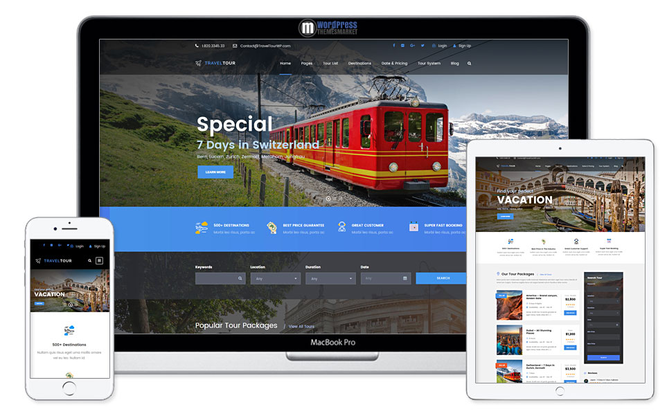 Travel Tour - Travel & Tour Booking Management System WordPress Theme