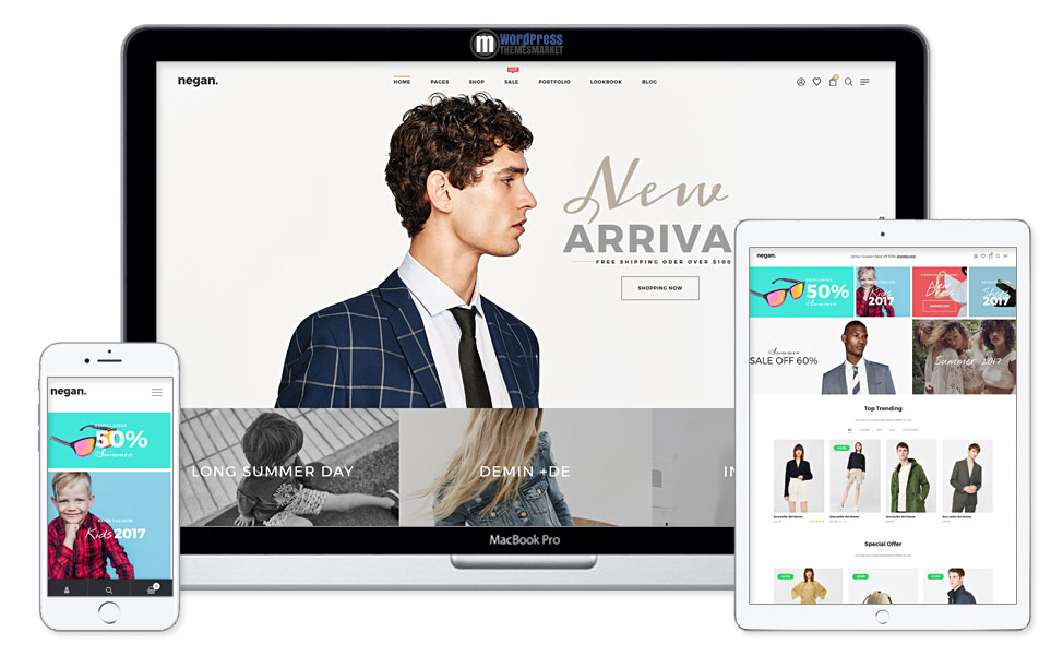 Negan - Clean, Minimal WooCommerce Theme