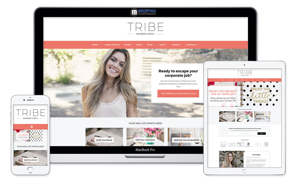 Tribe - Feminine Coaching Business WordPress Theme